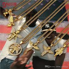 necklace chains wholesale images Wholesale 70cm hiphop gold chains for men 24k gold angel chain men jpg