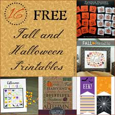 fall halloween images 16 free fall and halloween printables