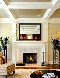white glass tile fireplace surround contemporary for warm diy