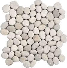 natural ivory pebble tile
