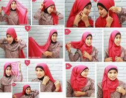 tutorial hijab paris ke pesta hijab tutorial cara memakai jilbab paris segi empat square scarf