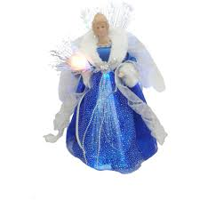 holiday time dark blue and silver angel led tree topper walmart com