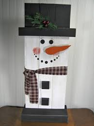 standup wooden snowman christmas decoration by thecountrytouch
