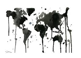 Map Of The World Black And White by Black And White Theweirdloner U0027s Blog