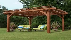 garden craft llc 10 x 12 feet redwood garden pergola 10x12 feet