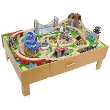 wooden train set table 100 reg 160 imaginarium classic train table with roundhouse