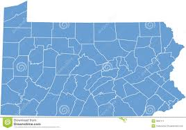 Pennsylvania State Map by Pennsylvania State By Counties Stock Image Image 9991111