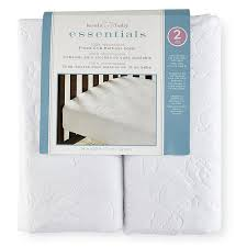 crib mattress topper koala baby essentials 2 pack waterproof fitted crib mattress