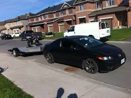 towing with honda accord towing question safe to tow a u haul motorcycle trailer sport