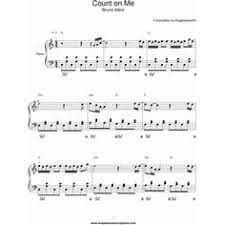 I Can Count On You Bruno Mars Hedwigs Theme Tune Piano Theme Tunes Sheet