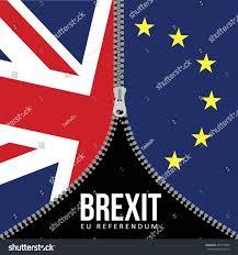 brexit concept british flag eu flag stock vector 441797257