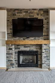 fireplace stone family room makeover part 4 airstone fireplace makeover