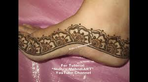 simple arabic mehndi design for feet border diy henna tattoo