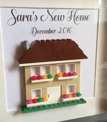 lego personalised new home housewarming gift frame