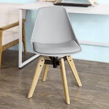 Esszimmerstuhl Kunstleder Grau Sobuy Schreibtischstuhl 360 Drehbar Küchenstuhl