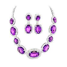 purple stone necklace images Purple bridal bridesmaid jewelry bling bride betty jpeg