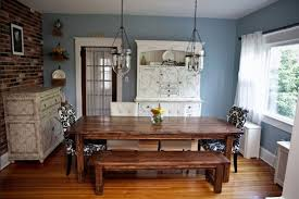 Farmhouse Dining Table Set Kristen Farmhouse Dining Table Sets And Bench Home Interiors