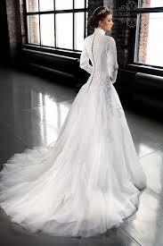 mzyw0212 full long sleeve high neck lace wedding dresses custom