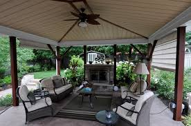 covered patio with fireplace outdoor fireplace puslinch on photo gallery landscaping network