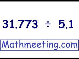dividing decimals youtube