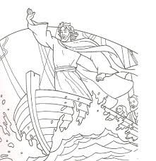 jesus calms the storm coloring page coloring pages online