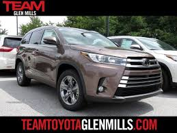 new 2017 toyota highlander glen mills serving west chester