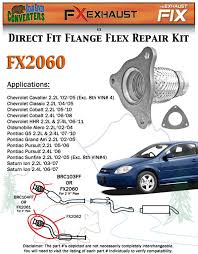 fx2060 semi direct fit exhaust flange repair flex pipe replacement