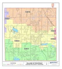 Zip Code By Map Richfield Wi Official Website Maps