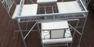furniture refinishing outdoor furniture makeover wehrli