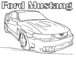car mustang coloring pages place color
