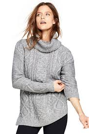 turtle neck sweaters s cozy lofty cable turtleneck sweater from lands end