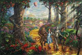 home interiors kinkade prints follow the yellow brick road limited edition the