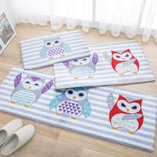 Owl Kitchen Rugs Owl Rug 3pcs Set Home Decor Bedroom Mat Pad Owl Floor Mats