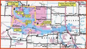 lake sakakawea map sakakawea trail on the lewis and clark trail