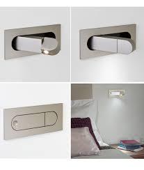 flush led bedside reading light