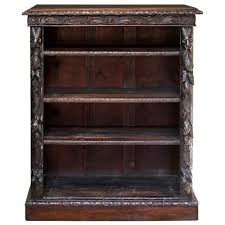 Oak Bookcases With Drawers Victorian Gothic Oak Bookcase At 1stdibs