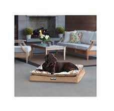 pillow top dog bed amazon com kirkland signature pillow top orthopedic pet napper bed
