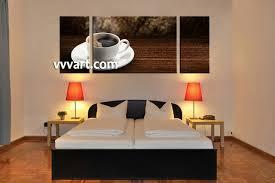 3 piece brown home decor saucer canvas art