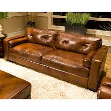 Oversized Leather Sofa Soho 4 Rustic Brown Leather Sofa Set W Oversized Chairs