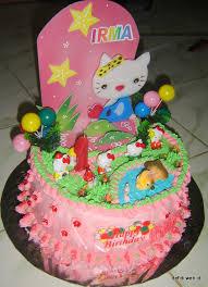 cara membuat hiasan kue ulang tahun anak dekorasi cake untuk pemula sajian defidi