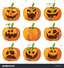 halloween big set pumpkins halloween 3d stock vector 489280750