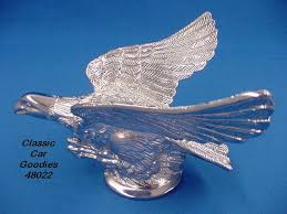 chrome flying eagle ornament