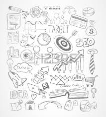 doodle presentations modern abstract background with doodle sketches for