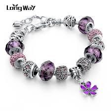 pandora style silver charm bracelet images Silver charm bracelets for women with crystal pandora style jpg