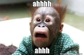Ahhh Meme - ahhhh ahhh meme de mono asustado imagenes memes generadormemes
