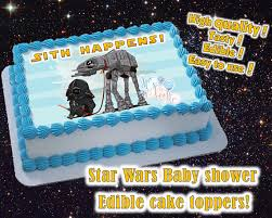 edible print wars themed boy or girl baby shower cake toppers edible