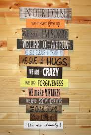 Family House Rules Family Rules Sign U2022 In Our House Rules Sign U2022 Distressed Wood