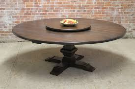 80 inch round table with venetian pedestal and lazy susan lake
