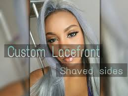 long hair at the front shaved at the back silver lace front wig for shaved sides youtube