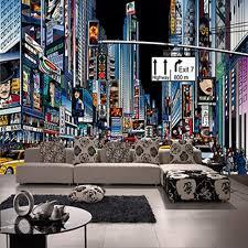 chambre de york personnalisé 3d murale nouvelle rue york times square papier peint